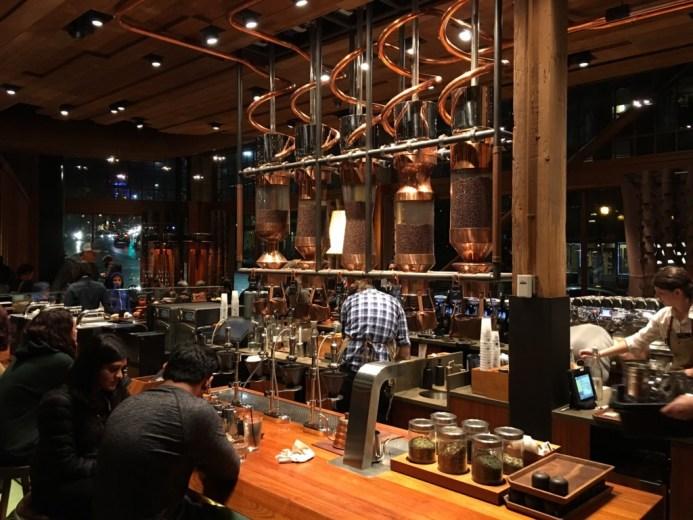 First Starbucks Store & Starbucks Reserve Roastery