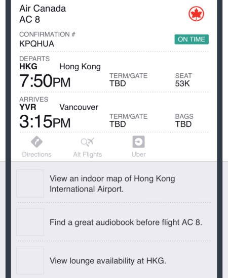 tripcase travel app screenshot