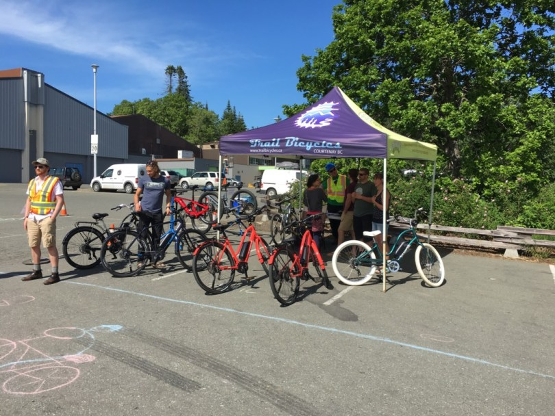 Move 2 Electric Comox Valley Electric Vehicle Event Electric Bicycle Tent