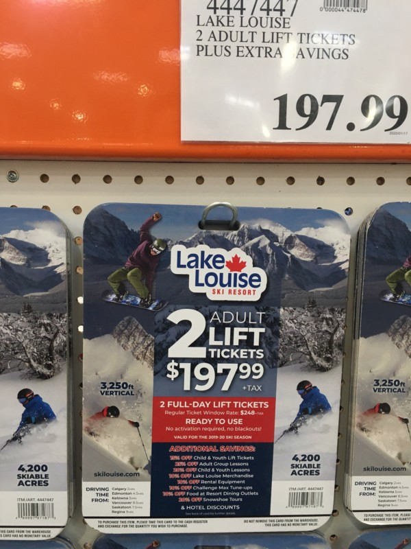 Lake Louise Costco Discount