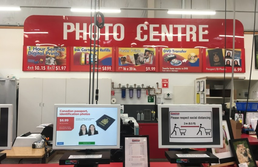 Costco Photo Centre Desk