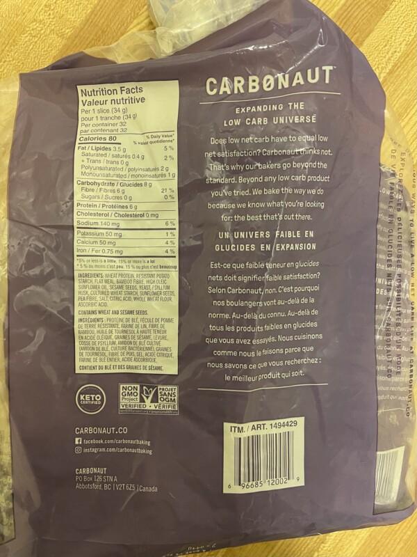 Carbonaut bread