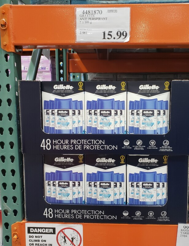 Gillette deodorant Costco