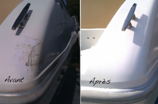 fiberglass gelcoat repair antibes cannes golfe juan french riviera