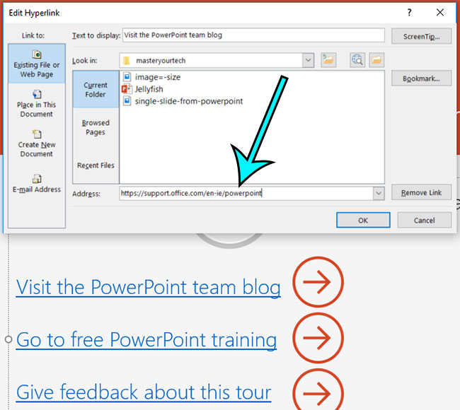 how to edit a hyperlink in powerpoint