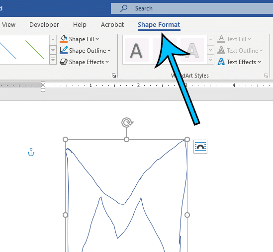 click the Shape Format tab