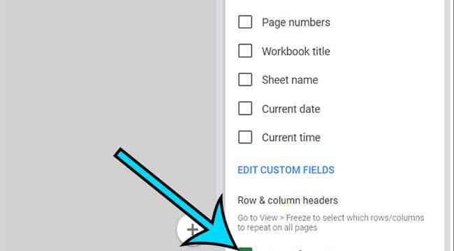 how to repeat the header row on every page in Google Sheets