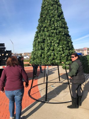Mastic-Shirley Chamber Christmas tree assembly