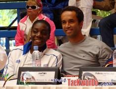 23_Gwladys Epangue (FRA) y Joseph Salim (DEN)