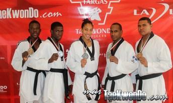 Medallistas panamericanos de Taekwondo de DOM
