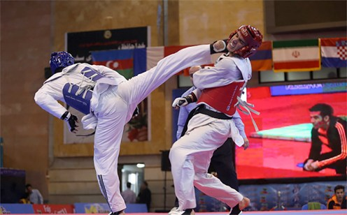 Combate del 5th Asian Taekwondo Clubs Championships