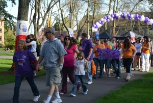 Community members and students walk the circuit to raise money for the American Cancer Society during Relay for Life.