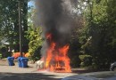 Student's car goes up in flames on Wheeler Street