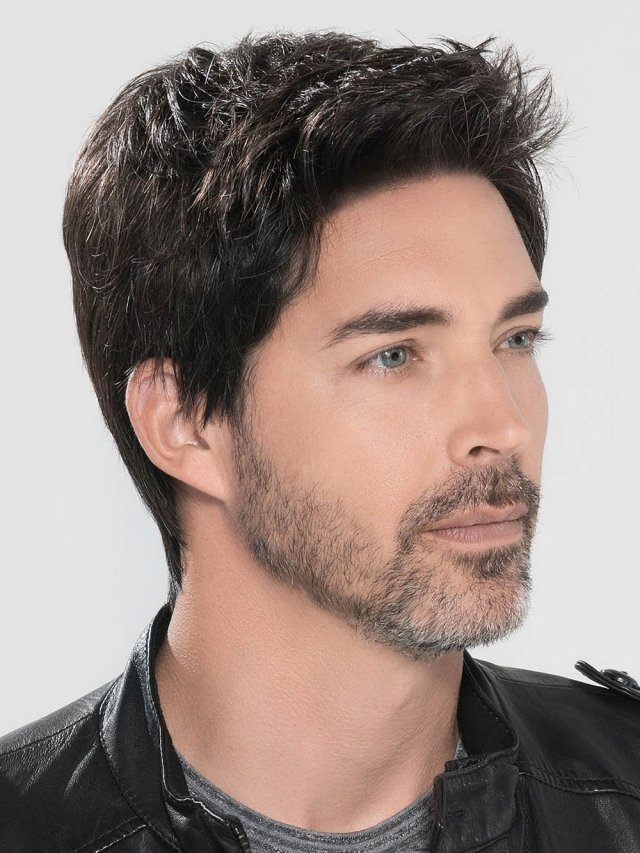 stylish hair unit for men 100% natural hair wig in pakistan