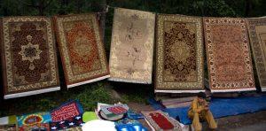 Carpets on the roadside