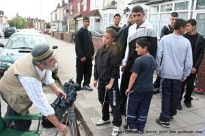 Ayman Ahwal filming for  Clean Medina