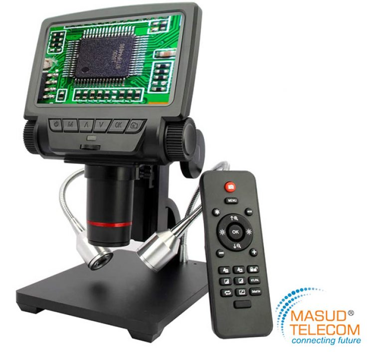 Hdmi digital microscope professional digital microscope supports 260x magnification, 4x digital zoom, and 1080p hd resolution (hdmi output)/720p (usb. ADSM301 HDMI/AV remote control long object distance ...