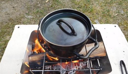 """【キャンプ】""""ダッチオーブン"""" ユニフレームさんの6インチ。使い勝手が良い。"""