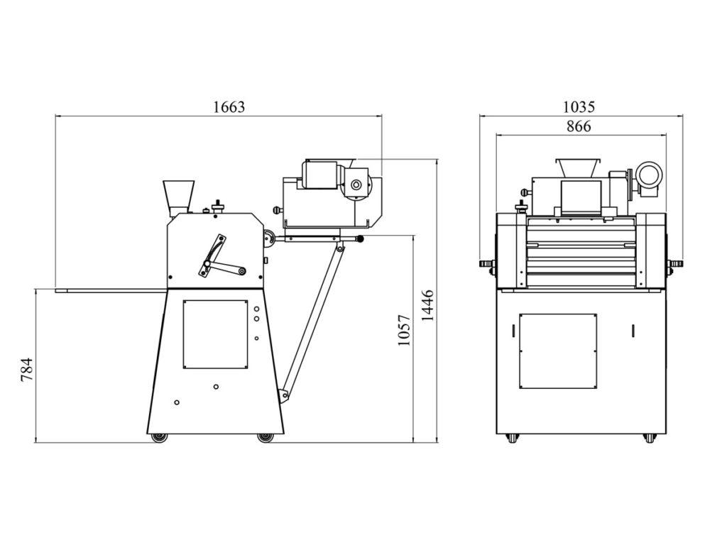Loaf Rolling Machine Vk 01 Mat Ing
