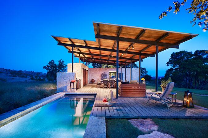 Beautiful Story Pool House By Lake Flato Architects