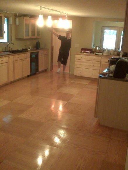 Homemade Plywood Parquet Floor
