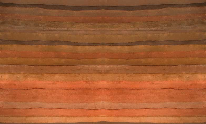 Colour Layering Sirewall S Insulated Rammed Earth