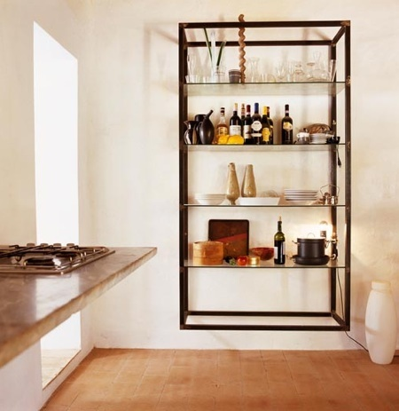 Kitchen Wall Shelving Units Mounted