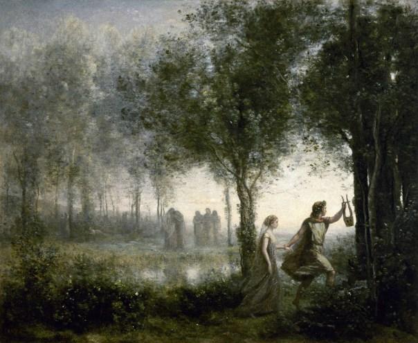 Orphée ramenant Eurydice des enfers (Jean-Baptiste Camille Corot, 1861)