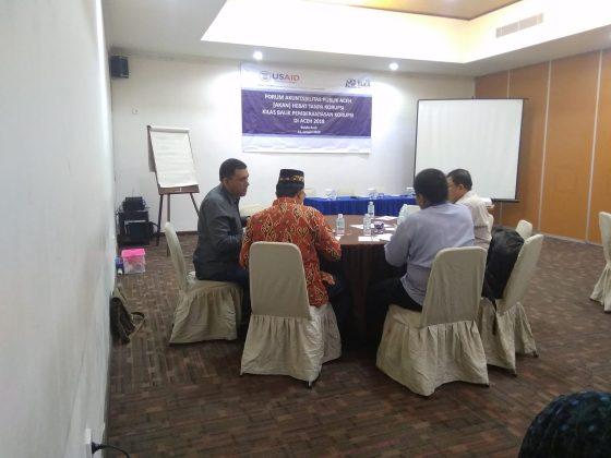 Forum Akuntabilitas Publik, Aceh Hebat tanpa Korupsi (4)