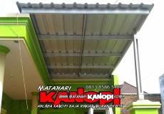 Hasil Pemasangan kanopi baja ringna atap spandek di Grand Depok City (GDC) OK