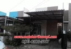 Hasil Pemasangan Kanopi Baja Ringan Atap Alderon Putih di Perum Griya Bukit Jaya 2, Blok BA3A No.8, Bojong Nangka, Gunung Putri Bogor