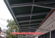 Hasil Pemasangan Kanopi Baja Ringan Atap Go Green Standar di Pondok Rajeg, Cibinong, Bogor, Depok