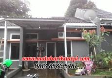 Hasil Pemasangan Kanopi Baja Ringan Atap Spandek Standar di Shapire Regency, Ragajaya, Citayem, Depok