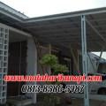 Hasil Pemasangan Kanopi Baja Ringan Atap Alderon Sunpanel di Green Cempaka Cibubur Jakarta Timur