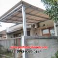 Hasil Pemasangan Kanopi Baja Ringan Murah Atap Alderon RS Type Standar di Jl. Nurmainah, Cikumpa, Sukmajaya, Depok
