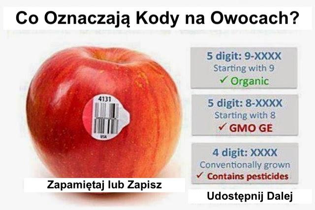 Co oznaczają te kody na naklejkach owoców i niektórych warzyw