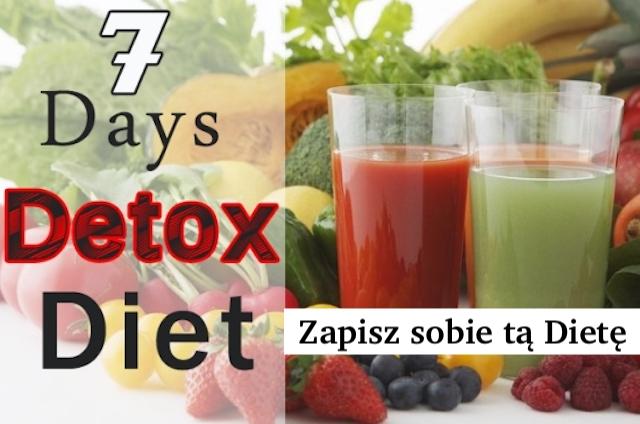 7 dniowa dieta DETOX – Zapisz ją sobie