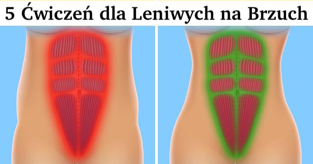5 Leniwych ćwiczeń – szybko schudnij wokół talii i mięśni brzucha – sprawdź