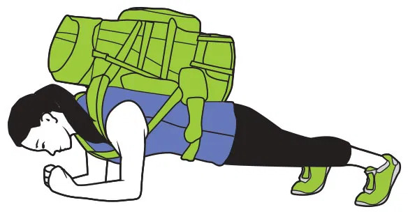 Plank z plecakiem - Gosia Klos