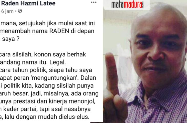 Jelang Pilkada Sumenep, Sekretaris Dewan Syuro PKB Ganti Nama Raden. Ada Apa?