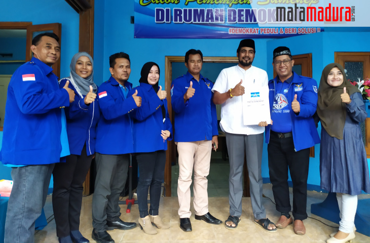 Usung 'Sumenep Bangkit', Aziz Salim Syabibi Daftar Bacabup ke Demokrat