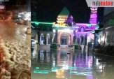 Warga Resah, Tengah Malam Banjir di Blega Semakin Deras