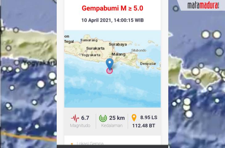 Gempa M 6,7 di Malang, Pengunjung Mall Berhamburan. Warga Sumenep Merasakan Guncangan