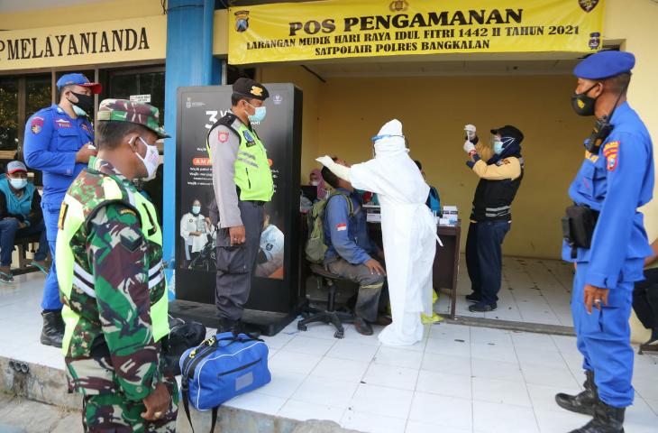 4 Orang Reaktif Saat Swab Antigen di Pelabuhan Kamal