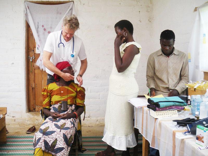 Behandlung von Patienten in Matanana