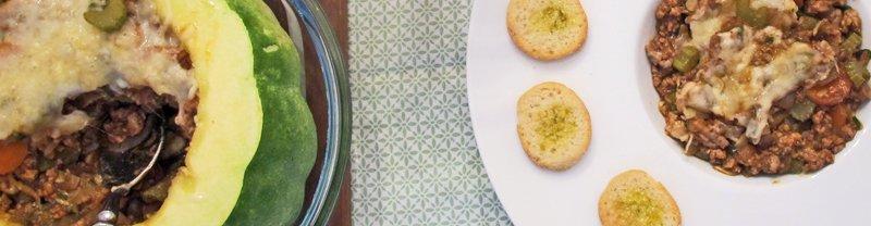 Fylt zucchini, skritt for skritt.