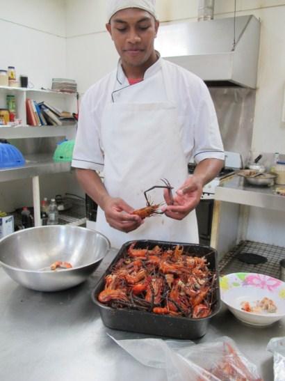 Freshwater Prawn appetizer by Chef Kuki