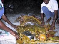 Fijian lovo dinner at Matava, Fiji