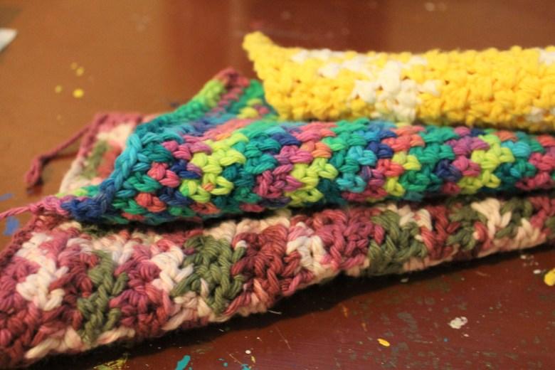 Three Beautiful (And Easy) Crochet Dishcloths