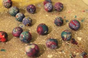 Clay Galaxy Beads